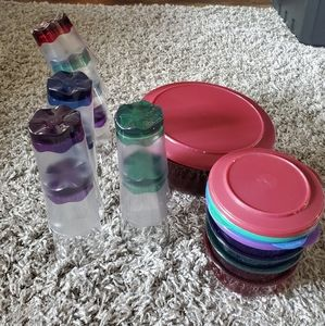 Jewel Tone Tupperware